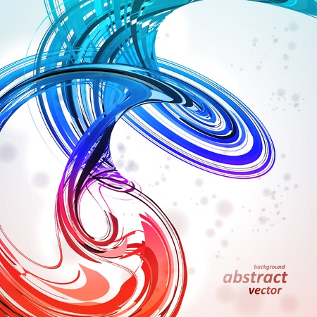 background swirl: Colorful abstract vector background, futuristic wavy illustration   Illustration