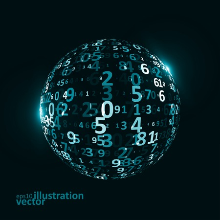 digital code: Digital code background, abstract vector illustration  . The concept of globalization