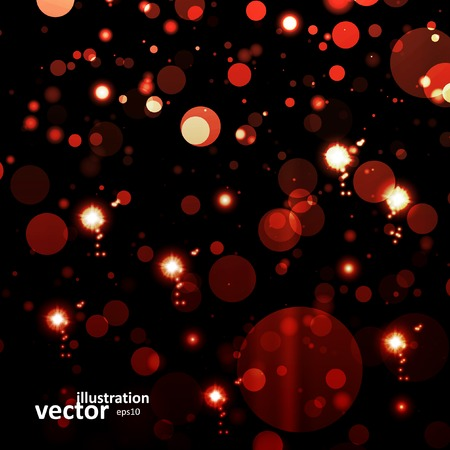 blizzards: Abstract vector background, colorful lights elements  . Illustration
