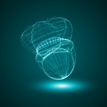 high scale magnification: Futuristic illustration - conceptual virus