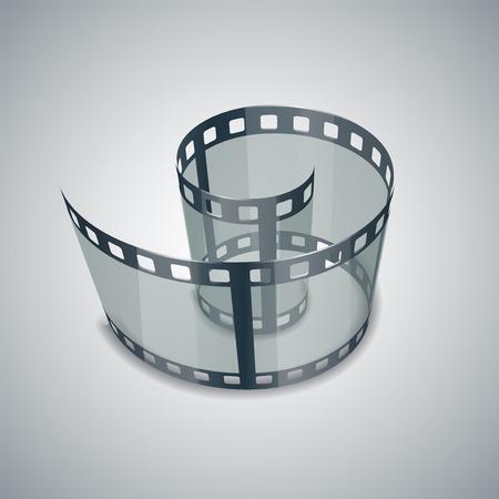 single coil: Spiral of film strip Stock Photo