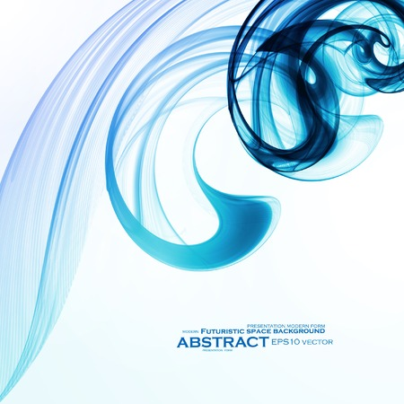 incense: Abstract dynamic background, futuristic wavy vector illustration eps10 Illustration