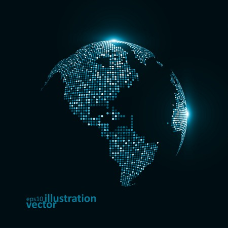 Technology image of globe. The concept vector illustration eps10 Vector