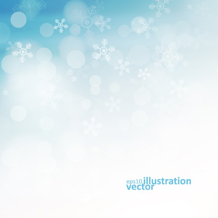 snow: Christmas background with snowflakes, abstract vector illustration eps10 Illustration