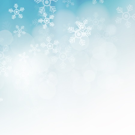 Christmas background with snowflakes, abstract illustration, art concept