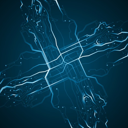 Circuit board background, abstract technology illustration