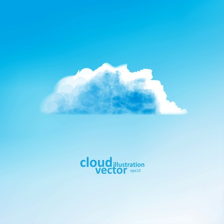 sky background: Cloud vector background, creative style illustration eps10