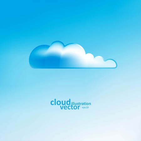 cloudless: Cloud vector background, creative style illustration eps10
