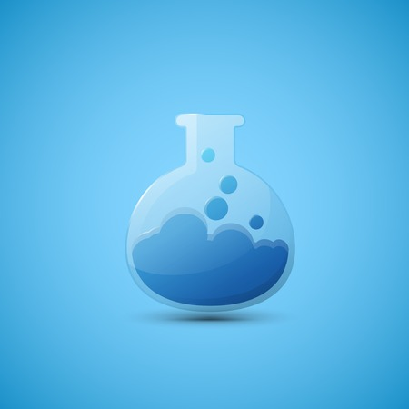reagents: Chemical laboratory flask