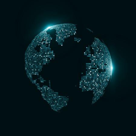 Technology image of globe photo