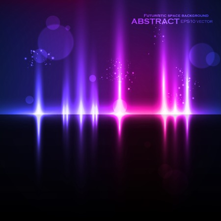 Abstract light background, futuristic vector illustration eps10 Vector