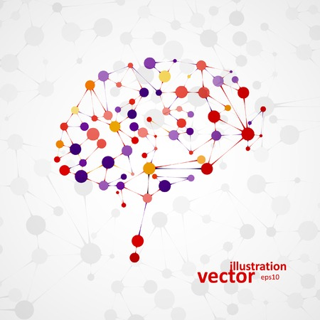 Molecular structure in the form of brain, futuristic vector illustration eps1 Stok Fotoğraf - 35113259