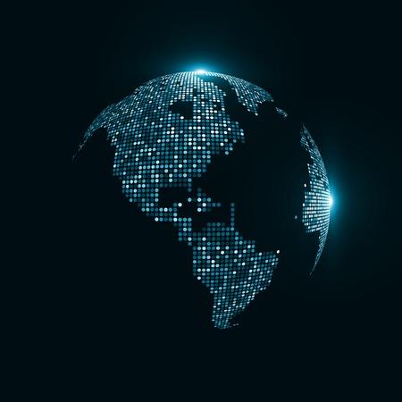 wereldbol: Afbeelding van de technologie van de wereld. Het concept illustratie