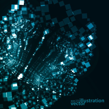 Abstract vector futuristic illustration , creative dynamic element. Vector