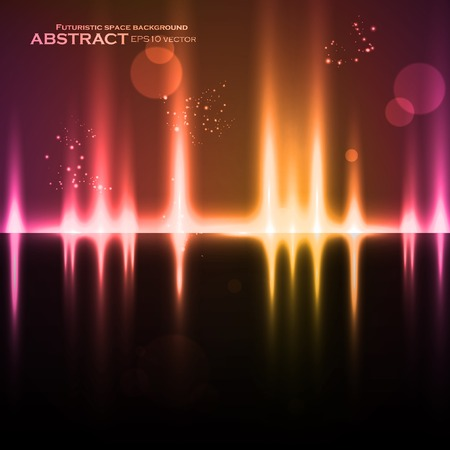 volume glow light: Abstract light background, futuristic vector illustration