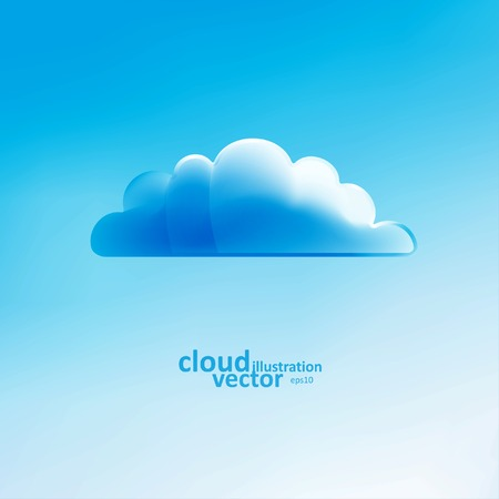 cloudless: Cloud vector background, creative style illustration