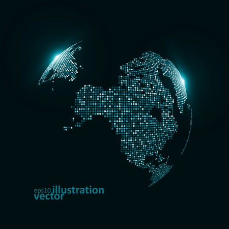Technology image of globe. The concept vector illustration  Vector