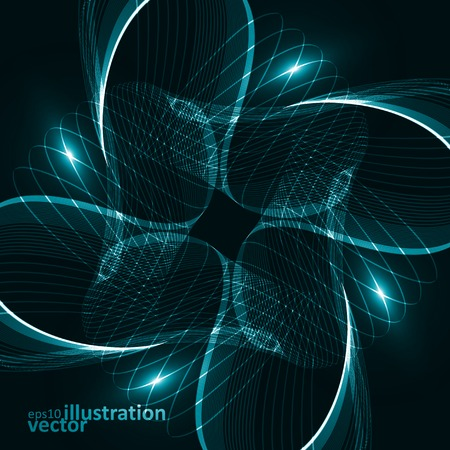 dynamic background: Abstract dynamic background, futuristic wavy vector illustration Illustration