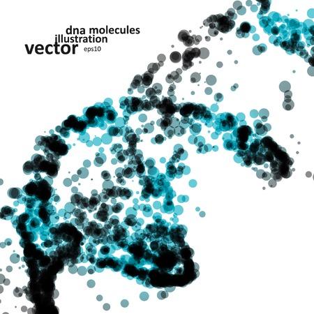 未来的な dna、抽象的な分子、細胞の図 eps10