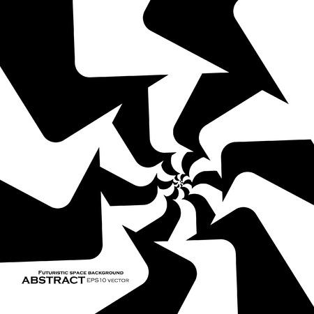 arte optico: Espiral de fondo abstracto, arte óptico dinámico, ilustración vectorial eps10