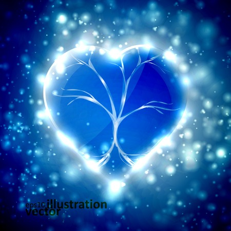 Futuristic heart, abstract background, vector illustration eps10 Vector