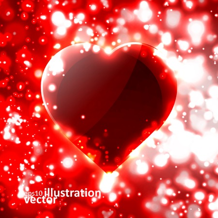 Futuristic heart, abstract background illustration Vector