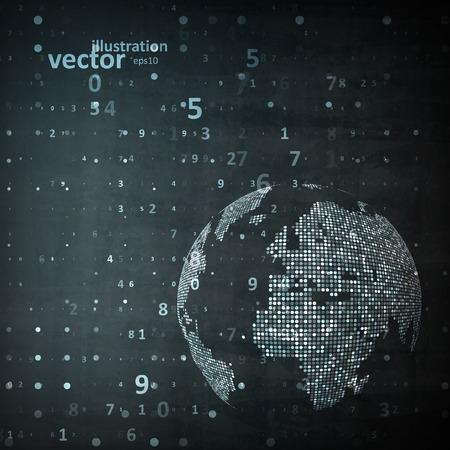 Technology image of globe illustration