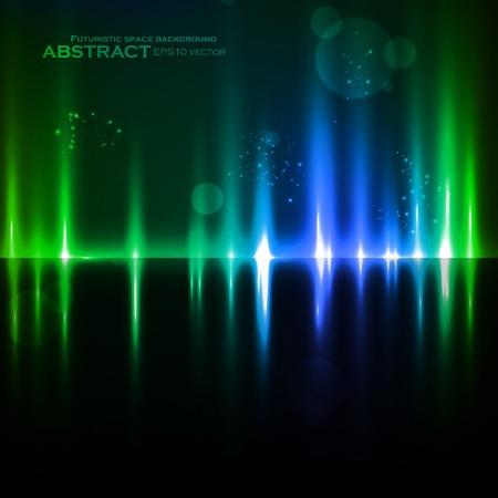 Abstract light background, futuristic vector illustration  Vector