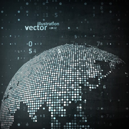 Tecnologia di immagine del globo. Il concetto di illustrazione vettoriale Archivio Fotografico - 37754957