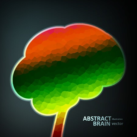 Colorful structure in the form of brain, futuristic vector illustration  Vector