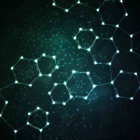 deoxyribose: Futuristic dna, abstract molecule,