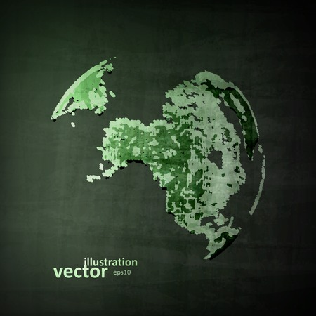 international recycle symbol: Abstract image of globe. The concept vector illustration eps10
