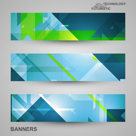 Set of banners, technology art illustration, vector eps10