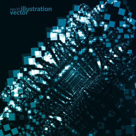 Abstract vector futuristic illustration eps10, creative dynamic element. Vector