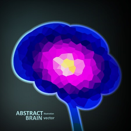 Colorful structure in the form of brain, futuristic vector illustration eps10 Vector