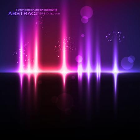 抽象的な光の背景、未来的なベクトル イラスト eps10  イラスト・ベクター素材