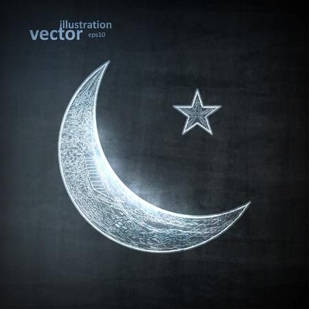 Lune icône, illustration vectorielle eps10, concept graphique pour votre conception. Vecteurs