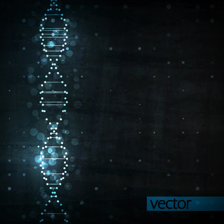 blue dna: Futuristic dna, abstract molecule, cell illustration eps10