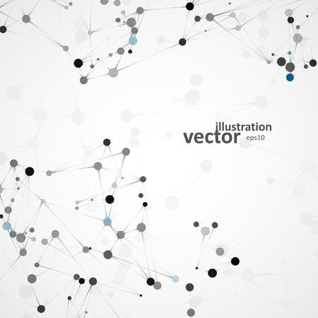 ADN futurista, la molécula de resumen, ilustración de células Ilustración de vector