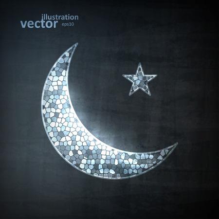 noche y luna: Icono Luna, ilustración vectorial eps10, Concepto Gráfico para su diseño.