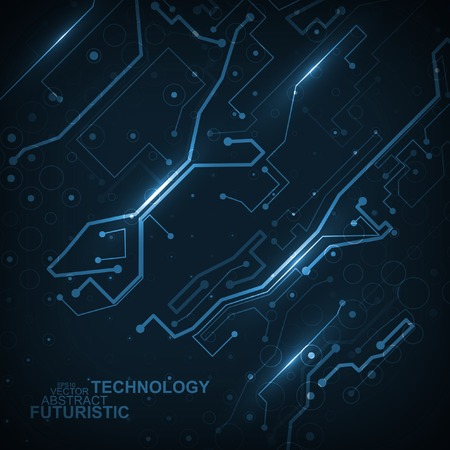 technology concept: Circuit board vector background, abstract technology illustration