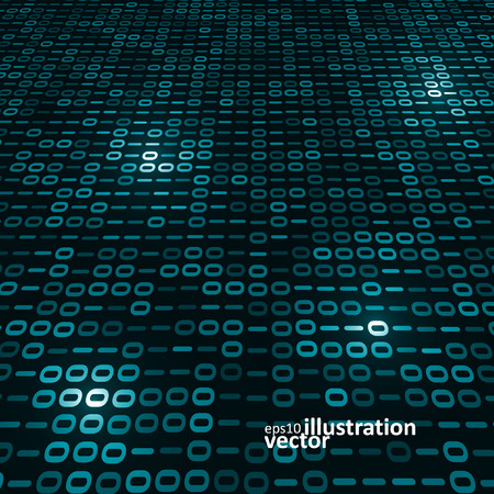 programming code: Binary computer code background, abstract vector illustration