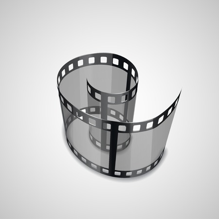 single coil: Spiral of film strip. Graphic concept for your design illustration Stock Photo