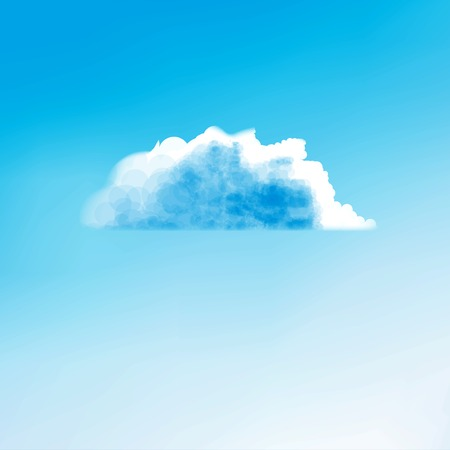 cloudless: Cloud background, creative style illustration Stock Photo