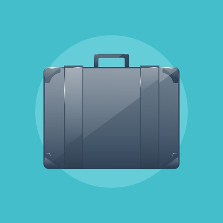business briefcase: Business briefcase, modern icon, graphic design, stylish concept