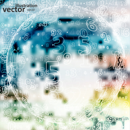 glitch: Digital code background, abstract vector illustration eps10 Illustration