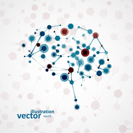 Molecular structure in the form of brain, futuristic vector illustration   Illustration