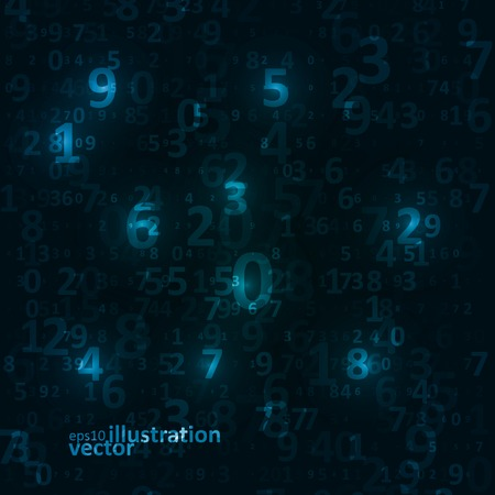 digital code: Digital code background, abstract vector illustration