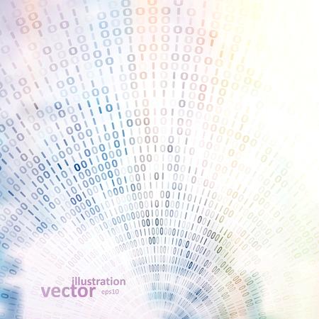 codigo binario: Código de fondo digital, ilustración vectorial abstracto