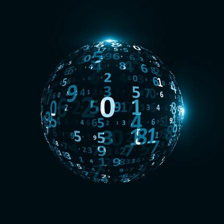 digital code: Digital code background Stock Photo